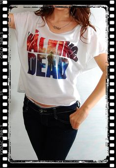 The Walking Dead Pop Punk Rock Vintage Women Top by noshirtnohoney, $14.99