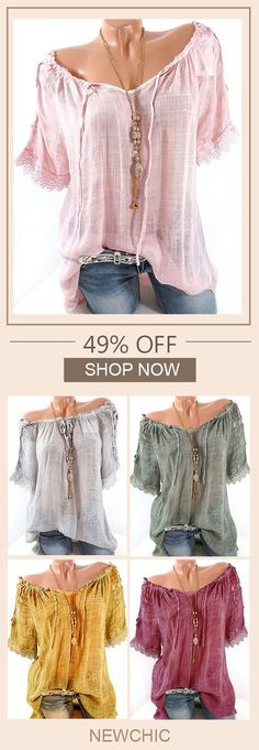 【Up to 68% Off】Newest style.Multiple choice for you.Casual Daily Loose Women Tops.Printed clothes.Pure color clothes.Kinds of types for you.Come and buy now! #springshirts #fashionstyle #womenoutfits
