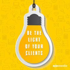 Be the light of your clients Inbound Marketing, Digital Marketing, Bottle, Business, Frases, Web Development, Flask, Store, Business Illustration