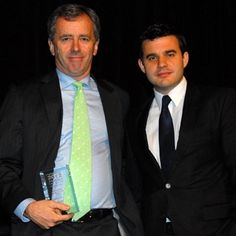 Paul Cowling presented the Randstad Managing Partner Award to Freehills' Gavin Bell at the 2012 Lawyers Weekly Law Awards