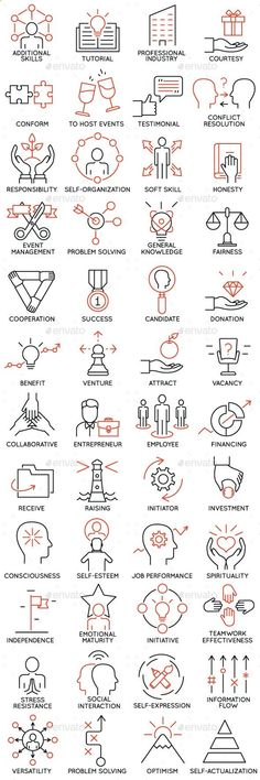 Business infographic & data visualisation Icons Set of Business Management part 4 — JPG Image Infographic Description Icons Web Design, Icon Design, Logo Design, Visual Thinking, Design Thinking, Business Icons, Cv Inspiration, Doodle Icon, Tattoo Designs