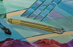 De favoriete glassnijder van de opdrachtgever van de muurschildering werd ook afgebeeld...
