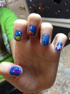 Under the sea nail art