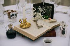 Vintage frames, gears, and books: A spectacular British steampunk wedding | Offbeat Bride