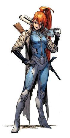 The monster hunter Elsa Bloodstone, Agent of SHIELD (Howling Commandos)