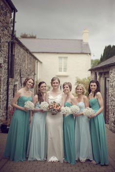 Mint bridesmaids dresses | onefabday.com