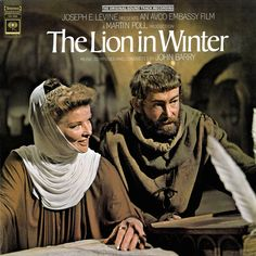 """Katharine Hepburn and Peter O'Toole in """"The Lion in Winter"""", movie, (1968)."""