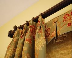Learn how to sew this box pleated valance with buttons... plus learn how to make pinch pleat curtains.