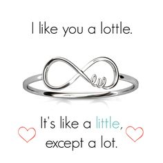 Lil Script Infinity Ring | The perfect gift to spoil your little <3 www.alistgreek.com