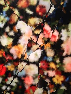 Detail of Ori Gersht's photography of broken mirrors at Ben Brown Fine Arts Hong Kong.
