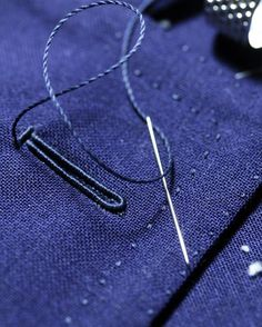 ::::: #handstitched   #details #bespoke #blue #jacket #vicktailor #tailoring #menwear #menstyle #menfashion #handmade #tokyo Sewing Coat, Hand Sewing, Couture Sewing Techniques, Bespoke Clothing, Tailoring Techniques, Bespoke Tailoring, Pattern Cutting, Pattern Drafting, Fabric Manipulation