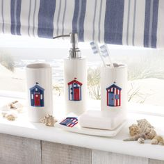 Wide range of Bathroom Collections available to buy today at Dunelm, the UK's largest homewares and soft furnishings store. Bathroom Plants, Bathroom Colors, Bathroom Sets, Bathroom Fixtures, Beach Hut Bathroom, Beach Bathrooms, Bohemian Bathroom, Nautical Interior, Shabby Chic Beach