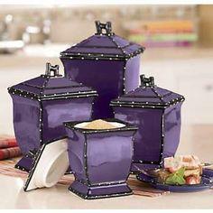 a positively beautiful blog purple kitchen decorall - Purple Kitchen Decor