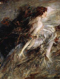 Marchesa Luisa Casati - detail - 1896 - by Giovanni Boldini