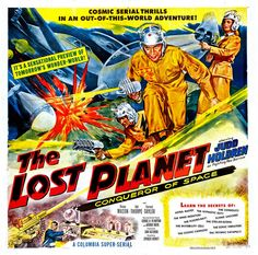 """Movie poster, """"The Lost Planet"""", 1951"""