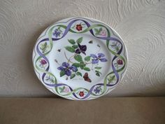 WEDGWOOD FLOWER ARTISTS OF KEW CLEMATIS #plate