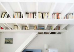 Ceiling Bookshelf - awesome!