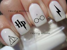 Harry Potter Nail Decals von ThirstyWillow auf Etsy