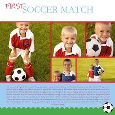 Digital scrapbook page - Soccer