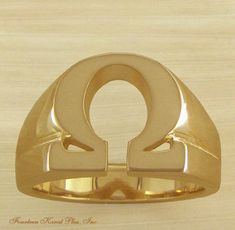 omega psi phi images | kp26 omega psi phi 14k ring that uses the greek letter omega as the ...