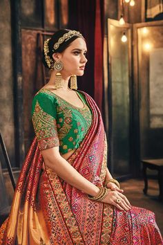 Indian Wedding Outfits, Indian Outfits, Saree Gown, Sari, Wedding Saree Collection, Churidar, Anarkali, Party Wear Lehenga, Stylish Sarees