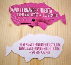 Business card by David Fernández Huerta, via Behance
