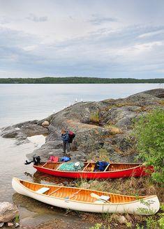 canoeing in Canada BWCA