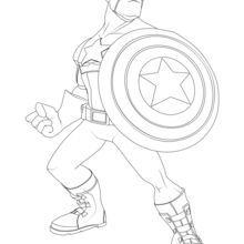 dibujo para colorear capitn amrica - Superhero Coloring Page