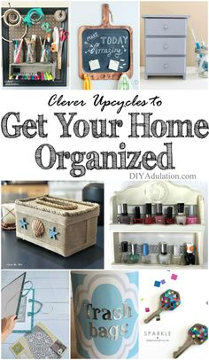 Being organized saves you money by preventing unnecessary purchases, making life run more smoothly, and frankly is good for your piece of mind. Now, you can save money while you get organized with these clever upcycles to get your home organized.
