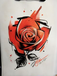 #tattoo #Art #Design #custom #drawing #pencil #vorlage #entwurf #rose #roses #aquarelle #aquarell #abstrakt