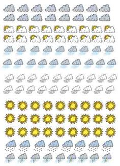 You can use a month calendar and hang it on the classroom's wall. With these stickers you can ask students what's the weather like on each class and choose one of them to stick the corresponding picture on the calendar. It's a very good idea to make studen...