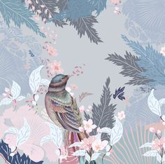 Fabric Photography, Chinoiserie Wallpaper, China Painting, Scarf Design, Pattern Art, Cute Wallpapers, Amazing Art, Illustrators, Art Projects