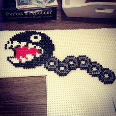 Chain Chomp Mario perler beads by podeprunix