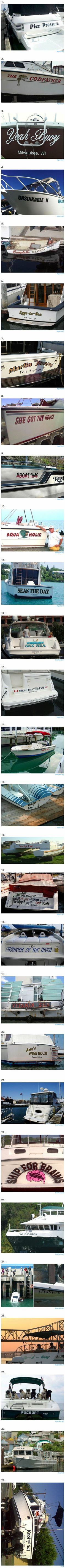 The 28 cleverest boat names of all time. #4 is absolutely genius...