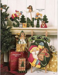 Upon my word - giga artes country - Álbuns da web do Picasa Christmas Tabletop, Indoor Christmas Decorations, Christmas Wood, Christmas Crafts, Christmas Ornaments, Xmas, Tole Painting, Diy Painting, Painting On Wood