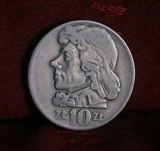 Poland 10 Zlotych 1959 World Coin Y50 Eagle wings open Tadeusz Kosciuszko Polish