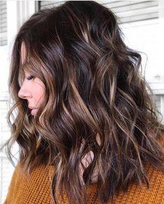 Amber waves of grain balayage Balayage Ombré, Hair Color Balayage, Hair Highlights, Dark Brunette Hair, Blond, Hair Color Dark, Brown Hair Colors, Amber Hair, Hair Shades