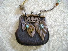 vintage coin purse repurposed as necklace