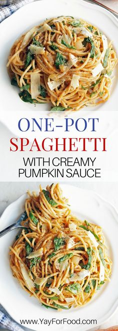 Pasta with creamy pumpkin sauce is ready in 25 minutes and made in one-pot. This savoury vegetarian meal is perfect for a quick weekday dinner or a lazy weekend meal. Spaghetti | Vegetarian | Quick recipe | Easy recipe | Dinner | 30 minute meals