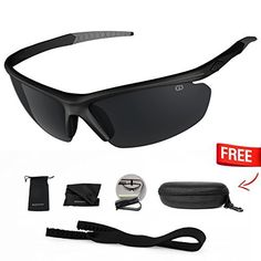 8b44a810b9 Polarized UV400 Sport Sunglasses Anti-Fog Ideal for Driving or Sports  Activity http