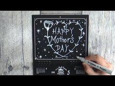 大人黒板なカレンダー5月(mother's day : chalkart )