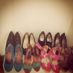Just some of my shoe collection!