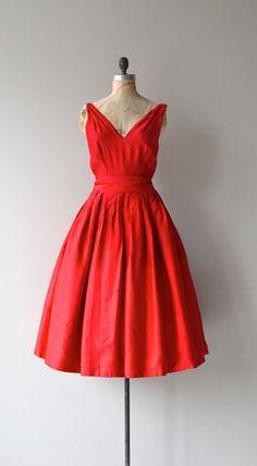 Truest Heart dress vintage 1950s dress red Rappi by DearGolden