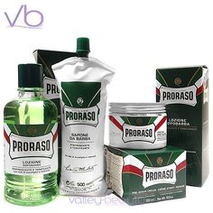 Shaving and Grooming Kits and Sets: Proraso (Green, Barber, Set, Pre-Shave, Lotion, Shaving Cream, Menthol, Bundle) BUY IT NOW ONLY: $62.1