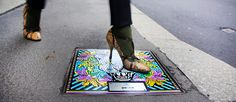 Over the Under – Manhole Art tells the story of a cabled city is an open air exhibition to show 24 manhole covers designed by renowned protagonists of the Italian fashion world.