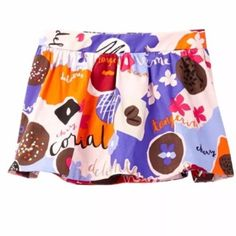 New Kate Spade Sweets Confections Shirred Skirt