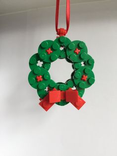 LEGO Wreath Christmas Decoration Christmas by OurBrickLibrary