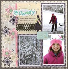 LOVE the colors used on this, different for a snow day!