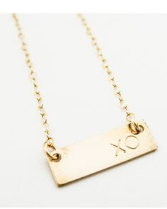 XO Bar Necklace