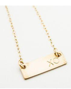 XO Bar Necklace.